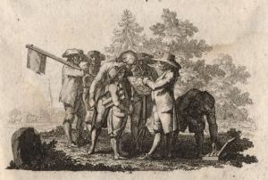Ausschnitt aus dem Titelblatt zu. Georg Grünberger, Lehrbuch für die pfalzbaierischen Förster, Bd. 1, München 1788.