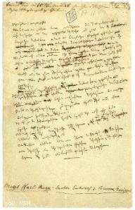 International Institute for Social History, Amsterdam: Manuskriptseite Kommunistisches Manifest, Public Domain